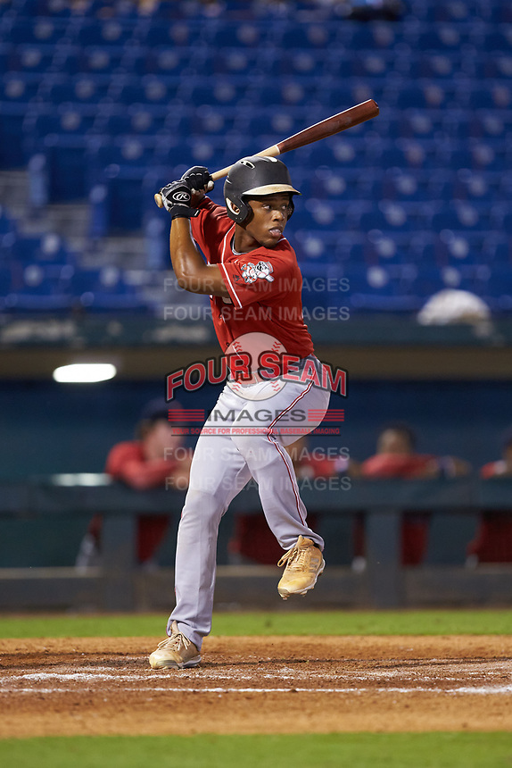 Devin Obee (54) of Ensworth HS in Nashville, TN playing for the Cincinnati Reds scout team during the East Coast Pro Showcase at the Hoover Met Complex on August 2, 2020 in Hoover, AL. (Brian Westerholt/Four Seam Images)