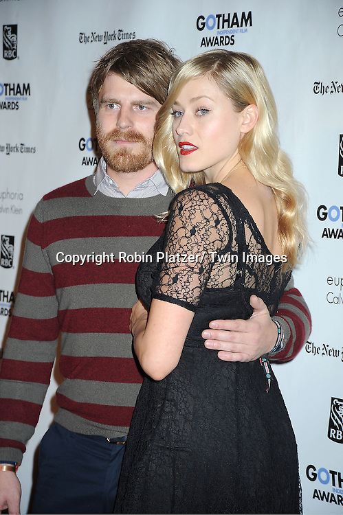Evan Glodell and Olivia Taylor Dudley attends IFP'S 21st Annual Gotham Independent Film Awards on November 28, 2011 at Cipriani Wall Street in New York City.