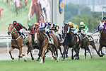 Jockey compete during the Race 10 - Atlantic Ocean Handicap on 07 May 2017, at the Sha Tin Racecourse  in Hong Kong, China. Photo by Chris Wong / Power Sport Images