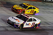 #11: Denny Hamlin, Joe Gibbs Racing, Toyota Camry FedEx Ground and #22: Joey Logano, Team Penske, Ford Mustang Shell Pennzoil