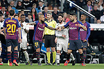 Real Madrid CF's players argue with and FC Barcelona's players during La Liga match. March 02,2019. (ALTERPHOTOS/Alconada)