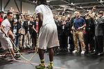 US actor and former California governor, Arnold Schwarzenegger reacts while observing a rope skipping during the officiation of the Arnold Classic Asia Multi-Sport Festival in Hong Kong. Photo by Marcio Machado / Power Sport Images. Photo by Marcio Machado / Power Sport Images