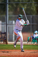 Eastern Michigan Eagles left fielder John Montgomery (44) at bat during a game against the Dartmouth Big Green on February 25, 2017 at North Charlotte Regional Park in Port Charlotte, Florida.  Dartmouth defeated Eastern Michigan 8-4.  (Mike Janes/Four Seam Images)
