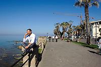 auf der Bastioni Christiforo Colombo in  Alghero, Provinz Sassari, Nord - Sardinien, Italien