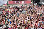 Fans and Atmosphere during the HSBC Hong Kong Rugby Sevens 2017 on 09 April 2017 in Hong Kong Stadium, Hong Kong, China. Photo by Marcio Rodrigo Machado / Power Sport Images