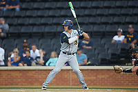 Jackson Cramer (13) of the West Virginia Mountaineers at bat against the Wake Forest Demon Deacons in Game Six of the Winston-Salem Regional in the 2017 College World Series at David F. Couch Ballpark on June 4, 2017 in Winston-Salem, North Carolina. The Demon Deacons defeated the Mountaineers 12-8. (Brian Westerholt/Four Seam Images)
