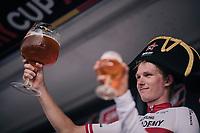 cheers to race winner Krists Neilands (LAT/Israel Cycling Academy)<br /> <br /> 3rd Dwars Door Het hageland 2018 (BEL)<br /> 1 day race:  Aarschot > Diest: 198km