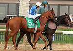 """October 07, 2018 : #5 Reward the Miracle and jockey Jarred Journet in the 1st running of The Indian Summer $200,000 """"Win and You're In Breeders' CupJuvenile Turf Sprint Division"""" for trainer Mark Casse and owner John Oxley  at Keeneland Race Course on October 07, 2018 in Lexington, KY.  Candice Chavez/ESW/CSM"""