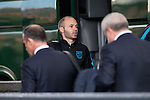 Andres Iniesta arrives at the team hotel the day before UEFA Champions League match between Atletico de Madrid and FC Barcelona at Hotel Eurostars in Madrid. April 13, 2016. (ALTERPHOTOS/Borja B.Hojas)