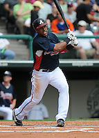17 March 2009: Shortstop Yunel Escobar of the Atlanta Braves in a game against the New York Mets at the Braves' Spring Training camp at Disney's Wide World of Sports in Lake Buena Vista, Fla. Photo by:  Tom Priddy/Four Seam Images