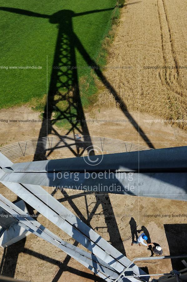 Bau einer neuen Gitterstahlmastkonstruktion durch Butzkies Stahlbau GmbH fuer eine Vensys Windkraftanlage in Steinburg bei Glueckstadt | .GERMANY new innovative construction of a steel lattice tower for Vensys wind turbine