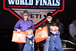 KC Gaill Churchill, Colton Williamson, during the Team Roping Back Number Presentation at the Junior World Finals. Photo by Andy Watson. Written permission must be obtained to use this photo in any manner.