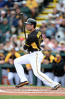 Second baseman Neil Walker (18) of the Pittsburgh Pirates during a spring training game against the New York Yankees on February 26, 2014 at McKechnie Field in Bradenton, Florida.  Pittsburgh defeated New York 6-5.  (Mike Janes/Four Seam Images)