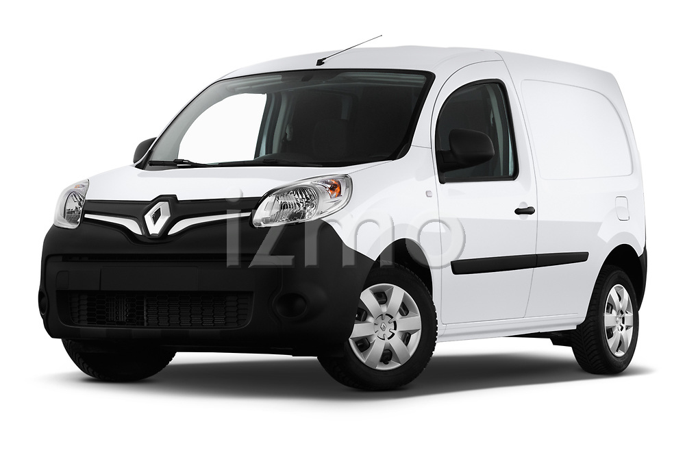 Stock pictures of low aggressive front three quarter view of a 2019 Renault Kangoo Energy Extra 4 Door Car van