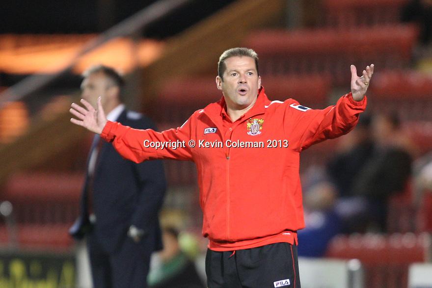 Stevenage manager Graham Westley<br />  - Crewe Alexandra v Stevenage - Sky Bet League One - Alexandra Stadium, Gresty Road, Crewe - 22nd October 2013. <br /> © Kevin Coleman 2013<br />  <br />  <br />  <br />  <br />  <br />  <br />  <br />  <br />  <br />  <br />  <br />  <br />  <br />  <br />  <br />  <br />  <br />  <br />  <br />  <br />  <br />  <br />  <br />  <br />  <br />  <br />  <br />  <br />  <br />  <br />  <br />  <br />  <br />  <br />  <br />  - Crewe Alexandra v Stevenage - Sky Bet League One - Alexandra Stadium, Gresty Road, Crewe - 22nd October 2013. <br /> © Kevin Coleman 2013