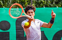 Hilversum, The Netherlands,  August 20, 2021,  Tulip Tennis Center, NKS, National Senior Tennis Championships, Men's single 35+, Richard Lim (NED)<br /> Photo: Tennisimages/Henk Koster