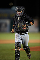 Visalia Rawhide catcher Daulton Varsho (9) during a California League game against the Lancaster JetHawks at The Hangar on May 17, 2018 in Lancaster, California. Lancaster defeated Visalia 11-9. (Zachary Lucy/Four Seam Images)