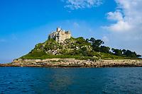 castle, St Michael's Mount, Marazion, Cornwall, England, United Kingdom, Mount's Bay, North Atlantic Ocean