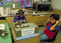 ELEMENTARY SCHOOL EDUCATION IN CLASSROOM. ELEMENTARY STUDENTS. OAKLAND CALIFORNIA USA CARL MUNCK ELEMENTARY SCHOOL.