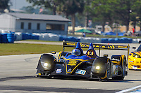 12-15 March 2008, Sebring, Florida, USA.Marco Andretti in the Acura ARX-01b under braking for turn 10..©F.Peirce Williams 2008, USA .