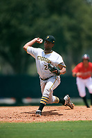 GCL Pirates relief pitcher Adonis Pichardo (28) delivers a pitch during a game against the GCL Braves on July 27, 2017 at ESPN Wide World of Sports Complex in Kissimmee, Florida.  GCL Braves defeated the GCL Pirates 8-6.  (Mike Janes/Four Seam Images)