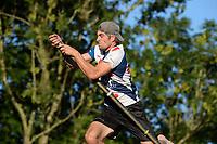 FIERLJEPPEN: GRIJPSKERK: 05-08-2020, Ysbrand Galama, winnede afstand 21,10m, ©foto Martin de Jong