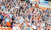 Blackpool fans watch the match<br /> <br /> Photographer Kevin Barnes/CameraSport<br /> <br /> Football - The EFL Sky Bet League Two - Blackpool v Exeter City - Saturday 6th August 2016 - Bloomfield Road - Blackpool<br /> <br /> World Copyright © 2016 CameraSport. All rights reserved. 43 Linden Ave. Countesthorpe. Leicester. England. LE8 5PG - Tel: +44 (0) 116 277 4147 - admin@camerasport.com - www.camerasport.com