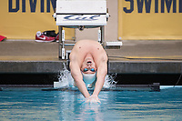 BERKELEY, CA - Nov. 10, 2017: Stanford vs. California triple distance meet.  Stanford Men's Swimming competed against UC Berkeley at Spieker Aquatics Complex.