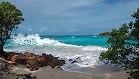 Winter north swell<br /> Cinnamon Bay<br /> Virgin Islands National Park<br /> St. John<br /> US Virgin Islands