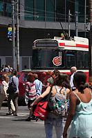 Toronto (ON) CANADA - July 2012 -  Toronto  Transit Commision : <br /> tramway