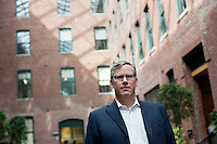 Brian Halligan is the co-founder and CEO of HubSpot, an internet marketing company, and a Senior Lecturer in the MIT Sloan School of Management.  Halligan is seen here in the offices of HubSpot in Cambridge, Massachusetts, USA.