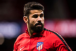 Diego Costa of Atletico de Madrid warms up prior to the La Liga 2017-18 match between Atletico de Madrid and CD Leganes at Wanda Metropolitano on February 28 2018 in Madrid, Spain. Photo by Diego Souto / Power Sport Images