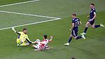 22.06.2021 Croatia v Scotland: David Marshall saves from Josko Gvardiol