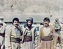 Iraq 1984 .In Surdash,right  Azad Sagerma with friends during the negociations between PUK and the Baghdad government.<br />