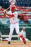 Outfielder Chao Wang (25) of the China National Team during a game vs. the Washington Nationals Instructional League team at Holman Stadium in Vero Beach, Florida September 28, 2010.   China is in Florida training for the Asia games which will be played in Guangzhou, China in November.  Photo By Mike Janes/Four Seam Images