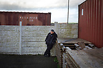 Holker Old Boys 2 Crook Town 1, 10/10/2020. Rakesmoor, FA Vase second round qualifying. A visiting supporter watching the action during the second-half as Holker Old Boys take on Crook Town in an FA Vase second round qualifying tie at Rakesmoor, Barrow-in-Furness. The home club was established in 1936 as Holker Central Old Boys and was initially an under-16 team for former pupils of the Holker Central Secondary School. Holker from the North West Counties League beat their Northern League opponents 2-1, watched by a crowd of 147 spectators. Photo by Colin McPherson.