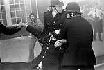 Lewisham, London.1977<br /> <br /> The Battle of Lewisham, which took place on 13 August. 500 members of the National Front marched from New Cross to Lewisham, various counter-demonstrations by approximately 4,000 people led to violent clashes between the two groups and between the anti-NF demonstrators and police. 5,000 police officers were present and 56 officers were injured in the riots, 11 of whom were hospitalised. 214 people were arrested for obstructing the police, threatening behaviour, assault, possession of an offensive weapon and throwing missiles. Later disturbances in Lewisham town centre saw the first use of police riot shields on the UK mainland.