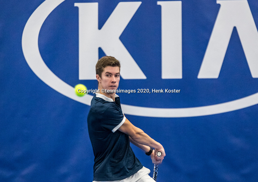 Amstelveen, Netherlands, 14  December, 2020, National Tennis Center, NTC, NK Indoor, National  Indoor Tennis Championships, Qualifying: Tom Clavel (NED) <br /> Photo: Henk Koster/tennisimages.com