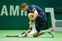 Rotterdam, The Netherlands, February 13, 2016,  ABNAMROWTT, Nicolas Mahut (FRA)<br /> Photo: Tennisimages/Henk Koster