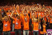 13-sept.-2013,Netherlands, Groningen,  Martini Plaza, Tennis, DavisCup Netherlands-Austria, , Dutch Supporters  doing the wave<br /> Photo: Henk Koster