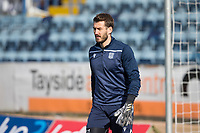13th March 2021; Dens Park, Dundee, Scotland; Scottish Championship Football, Dundee FC versus Arbroath; Dundee goalkeeper Adam Legzdins during the warm up before the match