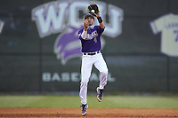 Western Carolina Catamounts third baseman Zach Ketterman (4) fields the ball during the game against the St. John's Red Storm at Childress Field on March 12, 2021 in Cullowhee, North Carolina. (Brian Westerholt/Four Seam Images)