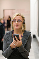 National Portrait Gallery, London.  Using the Audioguide.