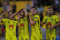 Phoenix's Ulises Davila reacts as his second goal is disallowed during the A-League football match between Wellington Phoenix and Brisbane Roar at Westpac Stadium in Wellington, New Zealand on Saturday, 23 November 2019. Photo: Dave Lintott / lintottphoto.co.nz