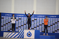 SPEEDSKATING: SALT LAKE CITY: Utah Olympic Oval, 10-03-2019, ISU World Cup Finals, Podium 1500m Ladies, Miho Takagi (JPN), Brittany Bowe (USA), Ireen Wüst (NED), ©Martin de Jong