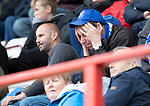 Hamilton Accies v St Johnstone….18.05.19      New Douglas Park        SPFL<br />A saints fan doesn't like what he is watching<br />Picture by Graeme Hart. <br />Copyright Perthshire Picture Agency<br />Tel: 01738 623350  Mobile: 07990 594431