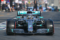 March 16, 2019: Lewis Hamilton (GBR) #44 from the Mercedes-AMG Petronas Motorsport team leaves the pit to start the qualification session at the 2019 Australian Formula One Grand Prix at Albert Park, Melbourne, Australia. Photo Sydney Low