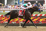 May 16, 2015: Fame and Power with Martin Garcia win the 18th running of the Sir Batyon Stakes for 3-year olds, going 1 1/16 at Pimlico Racetrack. Trainer:  Bob Baffert. Owner: Juddmonte Farms. Sue Kawczynski/ESW/CSM
