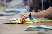Pictured: Ballot papers during The Swansea East and Gower Election Count at LC in Swansea, Wales, UK. Friday 07 May 2020