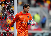 22nd May 2021; Brentford Community Stadium, London, England; English Football League Championship Football, Playoff, Brentford FC versus Bournemouth; Goalkeeper Asmir Begovic of Bournemouth with the match ball